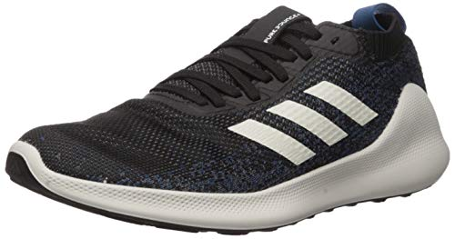 adidas Men's Purebounce + Running Shoe, Black/White/Legend Marine, 8 M US
