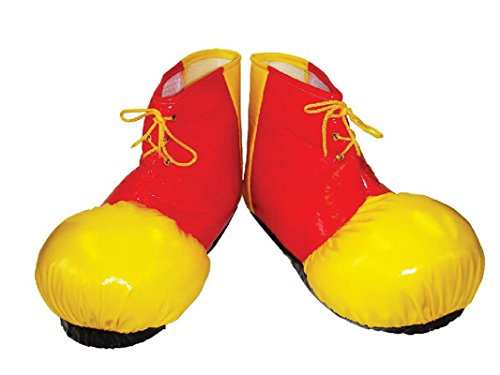 Adults Unisex Funny Clown Comedy Fancy Dress Hats Shoes & Accessories [Red & Yellow Shoe Covers]