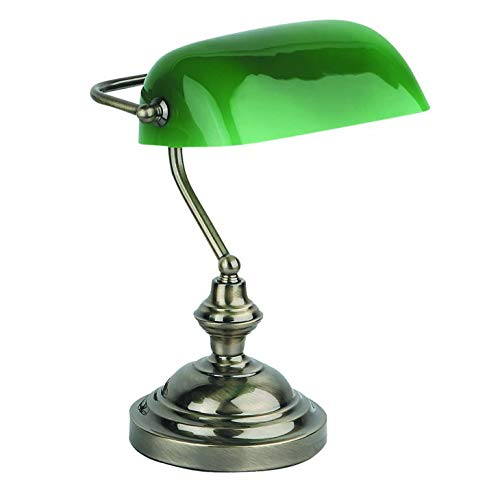 Faro Barcelona 68334 BANKER Lampe de table or vieilli
