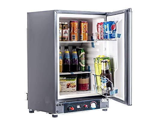 Smad Réfrigérateur Camping, 12V/220V/Gaz, Mini Frigo Bar Silencieux pour Camping-Car, Caravane, Fourgon, Camion, 60L, Noir