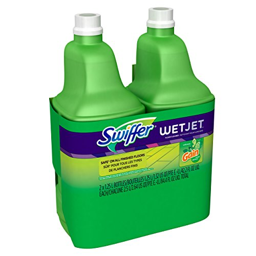 Swiffer Wet Jet, Spray Mop Floor Cleaner Multi-Purpose Solution, Gain Original, 42.2 oz, 2 pk