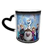 Anime Elsa tazza da caffè in ceramica tazze da tè cambia colore novità famiglia amanti amici ufficio e casa regalo di salute