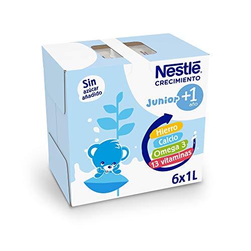 Nestlé Junior 1+ Original Leche para Niños A Partir de 1 Año, 6 x 1L