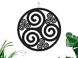 CONTRAXT Triskel Decoracion Celta Cuadro Mandala Madera Pared rusticos Cuadros Decoracion hogar Pared Salon Panel Madera Tallada Vintage (Triskel Celta, Mediano)