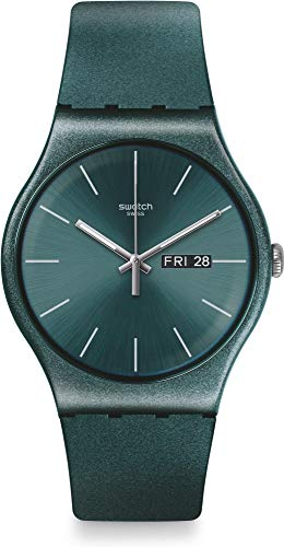 Swatch Ashbayang SUOG709 Green Silicone Quartz Fashion Watch