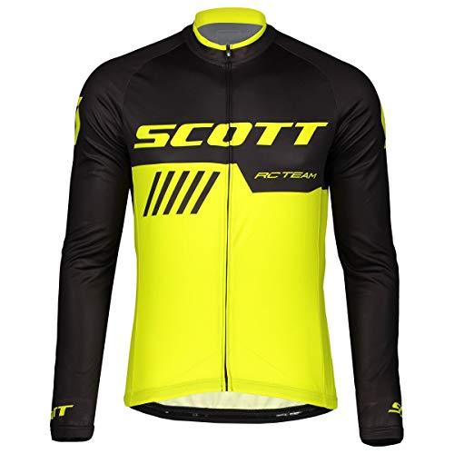 Scott RC Team 10 Fahrrad Trikot lang gelb/schwarz 2019: Größe: XXL (58)