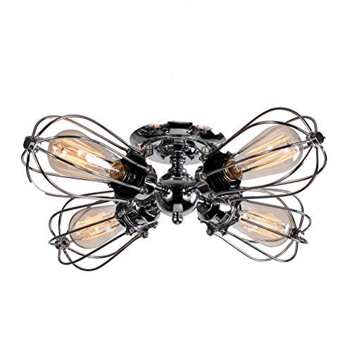 Preisvergleich Produktbild YANGSANJIN Deckenleuchte Industrie Verstellbar Metall Retro Lampe, Vintage Kronleuchter Metall Draht Käfig Geeignet für Wohnzimmer,  Esszimmer,  Schlafzimmer(Keine Lichtquelle)