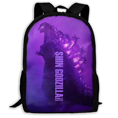 Sheridan Reynolds Godzilla King of The Monsters Kids Backpack for Boys Girls School Bookbag for Children Black