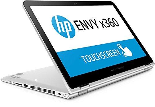HP Envy x360 (15-aq003ng) 39,6 cm (15,6 Zoll/ Full-HD IPS Touch-Bildschirm) Convertible Laptop (2in1 Laptop und Tablet in einem, Intel Core i7-6560U, 1TB HDD, 8GB RAM, Windows 10) silber