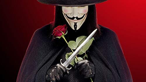 Puzzle 1000 piezas Pintura de regalo de arte de Vendetta de decoración de cuchillo de rosa puzzle 1000 piezas adultos Rompecabezas de juguete de descompresión intelectual educ50x75cm(20x30inch)