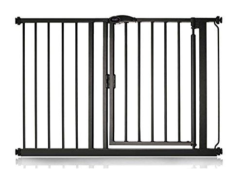 Safetots Cierre Automático Barrera de Seguridad Negro Mate 111cm a 118cm