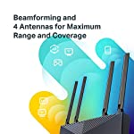 Tp-link archer ax50 ax3000 wireless dual-band gigabit router (renewed) 10 jd power award ---highest in customer satisfaction for wireless routers 2017 and 2019 wi-fi 6 router: wi-fi 6(802. 11ax) technology achieves up to 3x faster speeds, 4x capacity and 75% lower latency compared to the previous generation of wi-fi 5 while the power of intel's dual-core cpu ensures your experience is smooth and buffer-free next-gen 3 gaps speeds: 4-stream dual band router reaches incredible speeds up to 3 gaps (2402 mbps on 5 ghz band and 574 mbps on 2. 4 ghz band) for faster streaming and gaming like you have never experienced before.