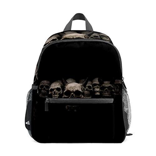 Mochila estudiantil bolsa para niños y niñas, diseño de calavera, color negro, informal, bolsa de viaje para la escuela, regalo