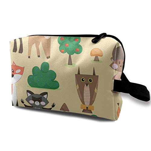 Cute Forest Animals Storage Bag Handbag Make-up Receive Bag