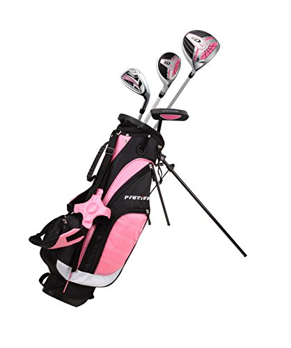 Precise XD-J Junior Complete Golf Club Set for Children Kids - 3 Age Groups Boys & Girls - Right Hand & Left Hand! (Pink Ages 3-5, Right Hand)