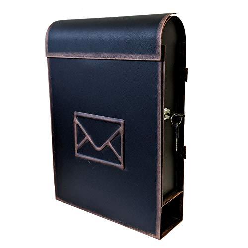 Buzón de pared con compartimento para periódicos en aspect