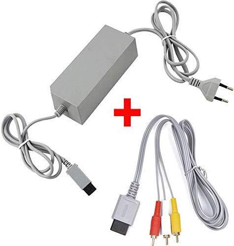 Childhood Alimentatore CA Alimentatore Alimentatore Cavo EU Plug con cavo AV Cavo audio video per Nintendo Wii Console System
