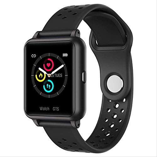 KKARTSmart Watches Fitness Tracker Smart Watch Sport Cardiofrequenzimetro Bluetooth Anziano Orologio elettronico per adulti Nero