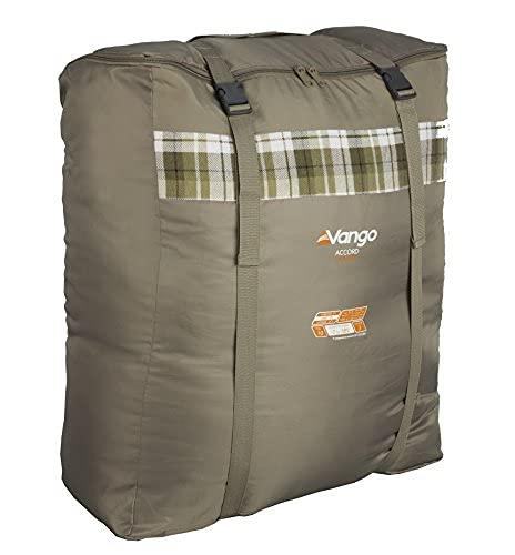 Vango Accord Square Sleeping Bag, Khaki, Double [Amazon Exclusive]