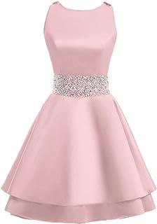 0e175f4e3ea MEILISAY Meilishuo Womens Crew Beading Prom Dresses Short Sequiuned Homecoming  Dresses for Teens Mini Cocktail Dresses