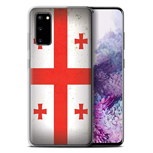 Stuff4 Gel TPU Hülle/Hülle für Samsung Galaxy S20 / Georgien/Georgisch Muster/Asien Flagge Kollektion