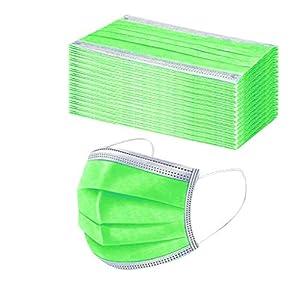 3 Capas Protección Transpirables con Elástico para Los Oídos Pack 5-50 Unidades, Unisex,Tela De Algodón Cara Bandana, Proteja Boca La Y La Nariz para