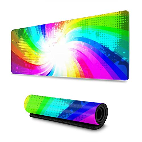 Gaming Mouse Pad Rainbow Splash 0 30 X 80 CM Gaming Mouse Pad, Mouse Mat Non Slip Rubber Base Mousepad