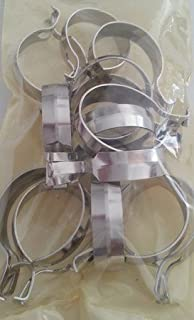 Graber 1-Inch Round Cafe Curtain Clips, Nickel - 14 Clips per Package