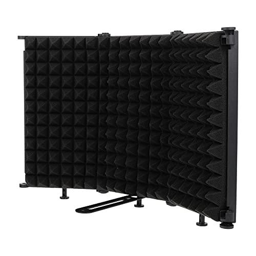 MILISTEN Protección de Aislamiento de Micrófono Grabación de Estudio Aislamiento de Micrófono Espuma Absorbente de Alta Densidad para Filtrar Voz para Micrófono de Estudio