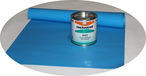 Jeha Pool Reparaturset mit Kleber 290 gr. PVC Kleber Folien Reparaturset Poolflicken + Kleber Schwimmbad Verschiedene Größen (140 x 70 cm)