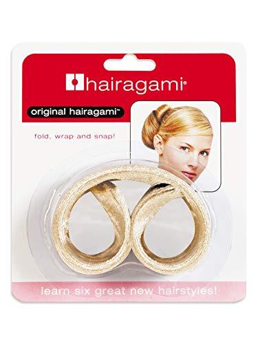 Hairagami-The Original Hair Bun Updo Fold, Wrap & Snap Styling Tool (Light)