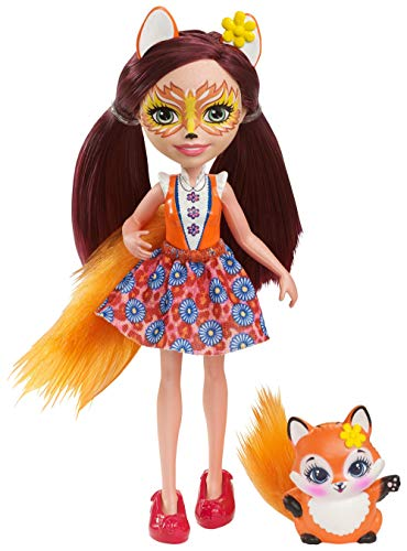 Enchantimals Mattel DVH89 - Fuchsmädchen Felicity Fox, Puppe