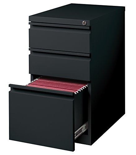 Hirsh Industries 3 Drawer Mobile File Cabinet File in Black