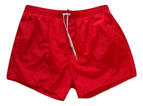 Dsquared D7B641310.400 - Bañador para hombre rojo 50 EU-36 UK