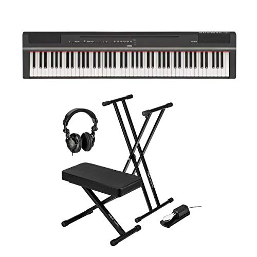 Learn More About Yamaha P-125 88-Note Digital Piano with Weighted GHS Action, Black + Keyboard Stand...