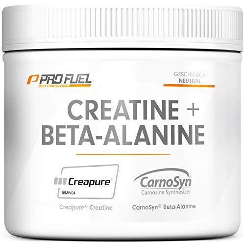 Creatin Monohydrat (Creapure®) + Beta-Alanin von CarnoSyn® | ProFuel FUNDAMENT | 300g hochwertiges Creatin Pulver – Made in Germany | Ultra hochdosiert für den Kraftsport | Geschmacksneutral