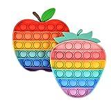 Juguetes antiestrés Alivio de la ansiedad Juguetes de silicona para apretar coloridos Quédate en casa Evita los regalos creativos aburridos