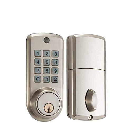 SwiftFinder Smart Lock, Stainless Steel Passcode Door Lock Waterproof Keypad Digital Keyless Entry Front Door Lock Code Door Deadbolt with Spare Key for Office Home