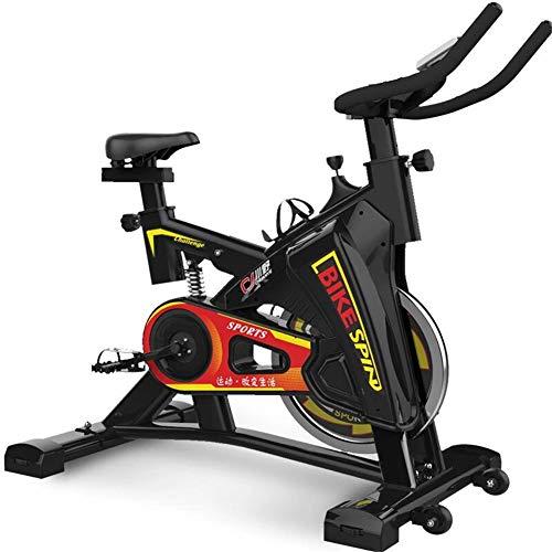 Lcyy-Bike Bicicletta Trainers Manuale di Resistenza Regolabile 6 kg Volano Cardio Workout con Display Multifunzionale Manubrio Regolabile E Altezza del Sedile