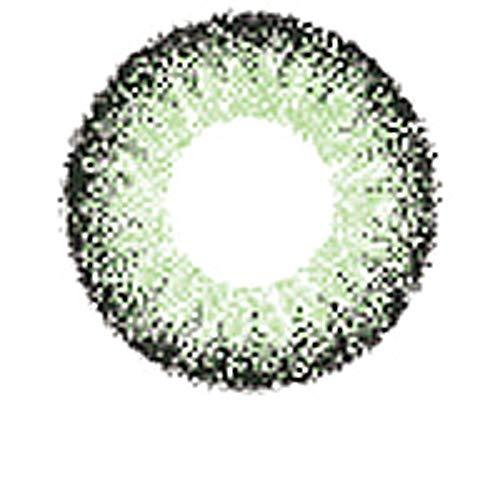 Matlens – EOS Farbige Kontaktlinsen mit Stärke grün green circle lenses J-211 2 Linsen 1 Kontaktlinsenbehälter 1 Pflegemittel 50ml -500