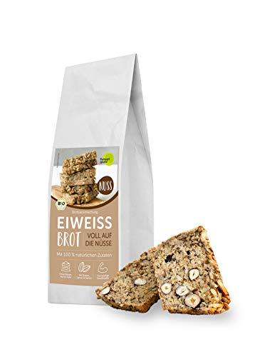 Pumperlgsund Brotbackmischung Eiweiß Brot | Viel Protein, weniger Kohlenhydrate | Ohne Mehl | Protein-Brot (Nuss, 3er Paket)