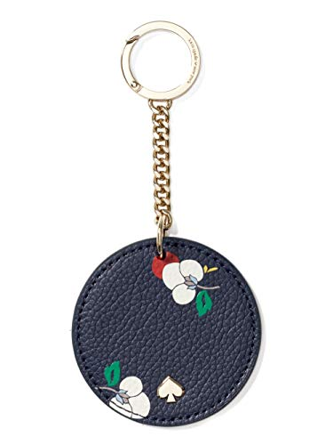 Kate Spade New York Key Chain Fob Purse Charm Leather Navy Multi,Small