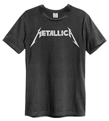 Amplified Clothing Metallica 'Logo' (Charcoal) T-Shirt (Medium)