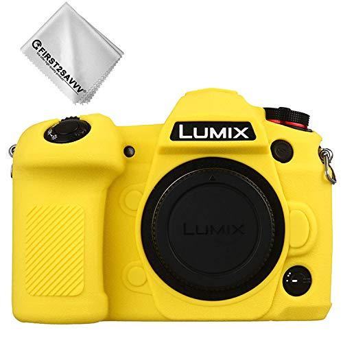 FIRST2SAVVV 黄 パナソニック Panasonic Lumix G9 専用 TPUシリコンカメラバッグ カメラケース XJP-Lumix G9-GJ-M13G11