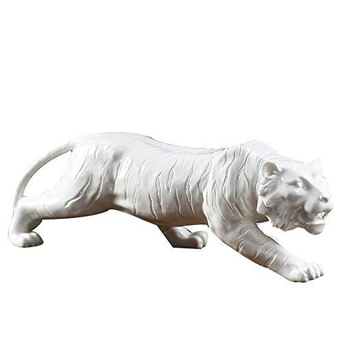 LIUSHI Tiger Sculpture Statue, Ceramic Tiger Animal...
