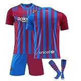 GDYJP Camiseta de fútbol Personalizada 21-22 Camiseta de Barcelona Versión Correcta Messi No. 10 Uniforme de fútbol Traje (Color : Home, Tamaño : XXL)