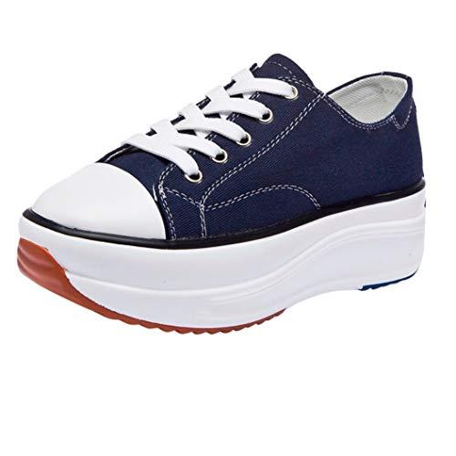 Dikke Canvas Schoenen Voor Dames Lage Ademende Gevulkaniseerde Sneakers Casual Veterschoenen Espadrilles Met Plateauzool Voor Dames Met Plateauzool