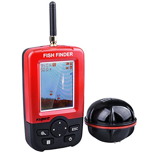 Kupet Fishing Finder, Portable Wireless Sonar Sensor Fish Attractor and Fish...