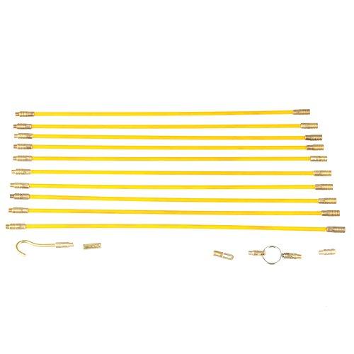 Fiberglas-Fisch, der Draht-Kabel 10 × 33 cm / 13 Zoll 4 Millimeter-Durchmesser durchläuft Fiberglas, das Draht-Kabel elektrische Fisch-Band-Zug u