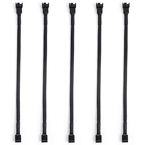 5 Piezas de Cable Separador de Ventilador PWM en Forma, de Y Convertidor de Cable de 1 a 1 Ventiladores(4 pines)